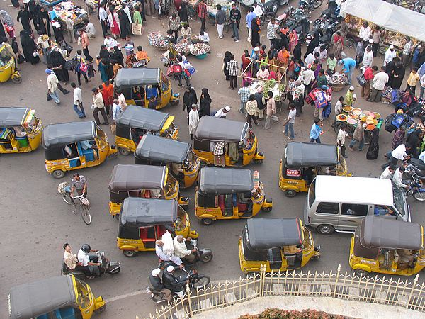 Hyderabad Traffic and Market