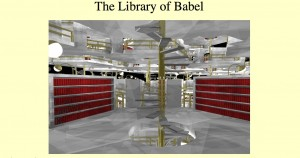 "An image inspired by Borges' ""Library of Babel"""
